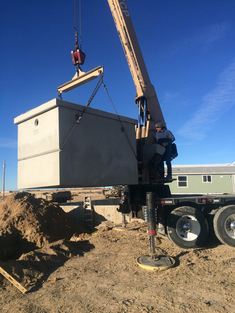 Concrete 1000 gallon tank Colorado
