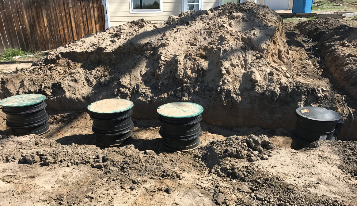 1530 gallon septic tank and 500 gallon pump tank
